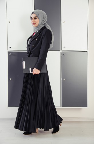 Double Breasted  Jacket 182856-01 Black 182856-01
