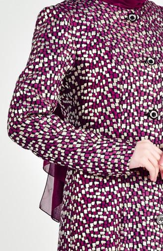 TUBANUR Pattern Cape 3044-02 Fuchsia 3044-02