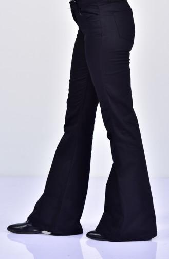 MIHRISAH Spanish Leg Trousers 2328-01 Black 2328-01