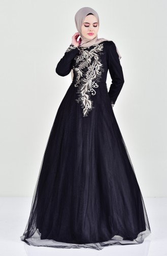 Laced Evening Dress 6147-01 Black 6147-01