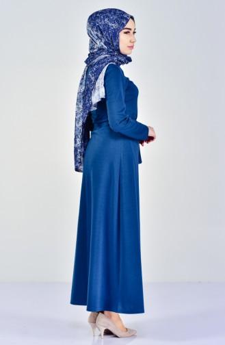 Dilber Zipper Detailed Dress 7106-01 Oil 7106-01
