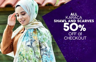 ALL KARACA SHAWL AND SCARVES EXACTLY 50% OFF CART