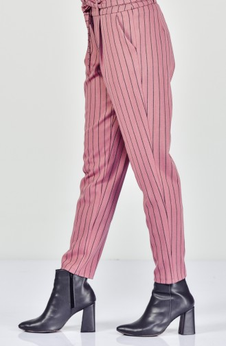 Striped Belted Pants 182540-04 Powder 182540-04