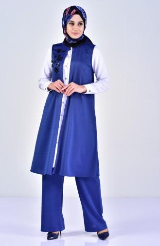 Silvery Vest Pants Double Suit  0242-03 Saks 0242-03