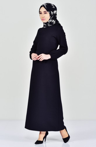 Robe Hijab Noir 2040-01