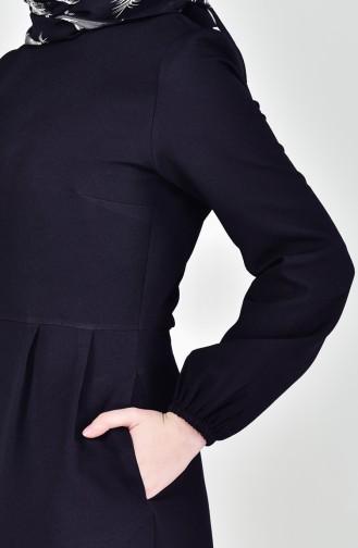 Pleated Dress 2040-01 Black 2040-01