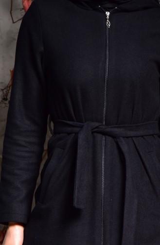 Belted Cachet Coat 1006-01 Black 1006-01