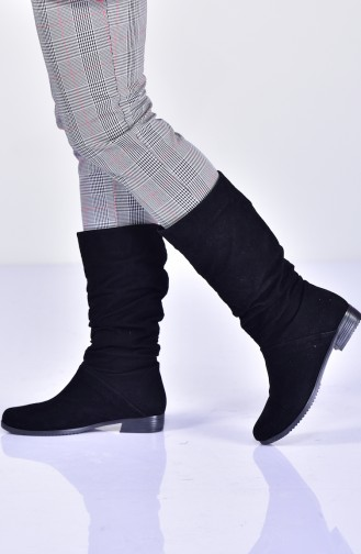 Womens Boots 11230-01 Black Suede 11230