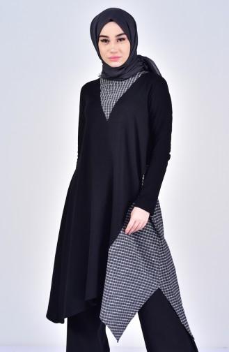 Garnish Asymmetric Tunic 3045-04 Black 3045-04