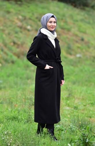Belted Cachet Coat 5107-03 Black 5107-03