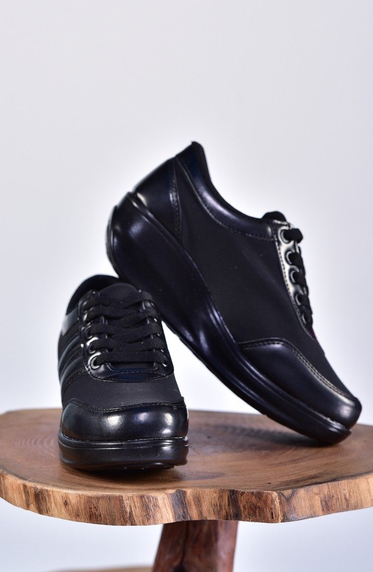 54bfdd7ad1 ALLFORCE Women s Sports Shoes 0116-10 Black Black Patent Leather 0116-10