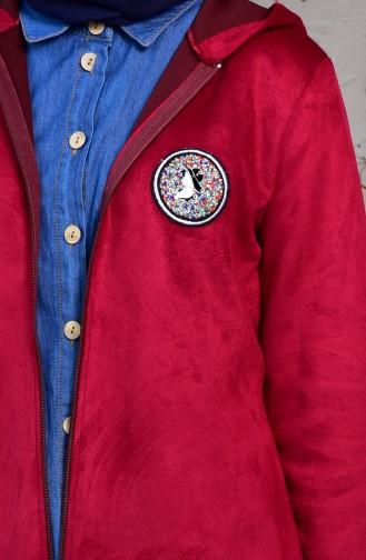 Hooded Suede Jacket  5036-01 Plum 5036-01