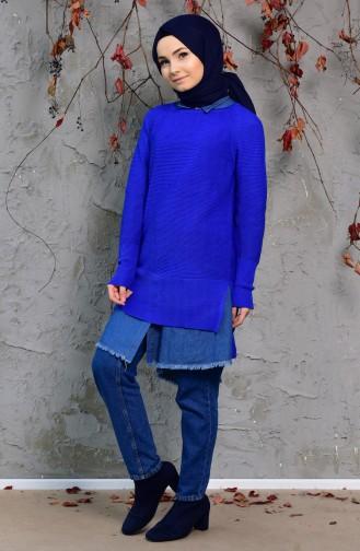 iLMEK Knitwear Sweater 3724-06 Saks Blue 3724-08