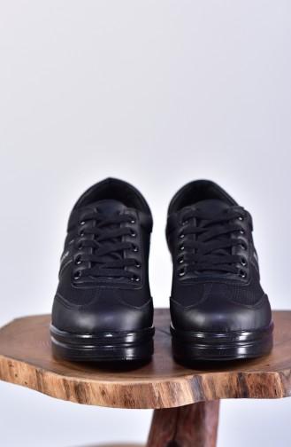 Platform Sports Shoes 0102-03 Black Black 0102-03