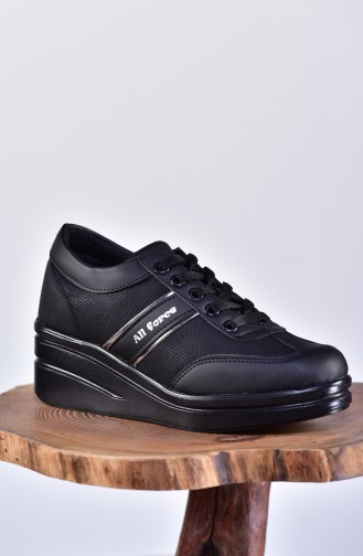 Platform Sports Shoes 0102-03 Black Black 0102-03