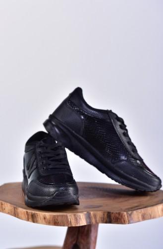Black Sport Shoes 0756-02