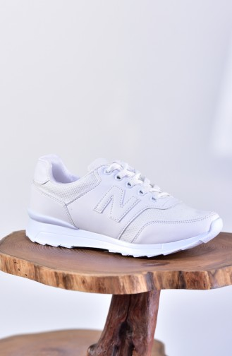 White Sport Shoes 0777-02