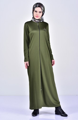Abaya Bordée 99171-01 Vert 99171-01