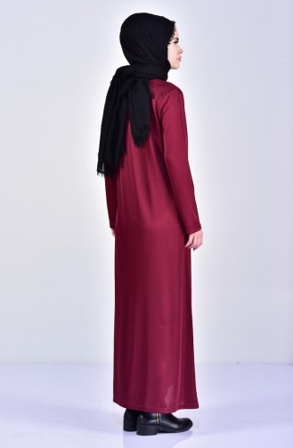 Embroidered Abaya 99171-02 Claret Red 99171-02