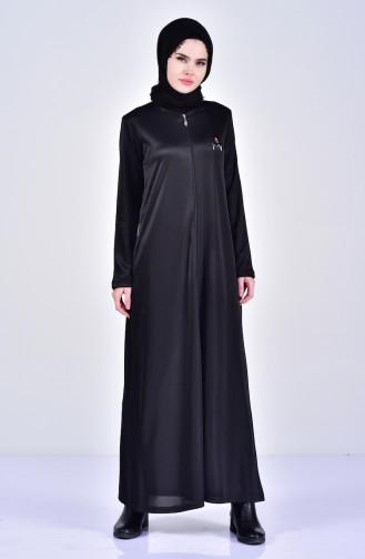 Embroidered Abaya 99171-03 Black 99171-03