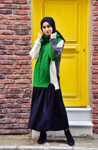 Knitwear Polo-neck Sweater 80187-02 Green 80187-02