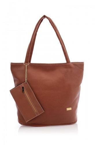 Tobacco Brown Shoulder Bag 02Z-06