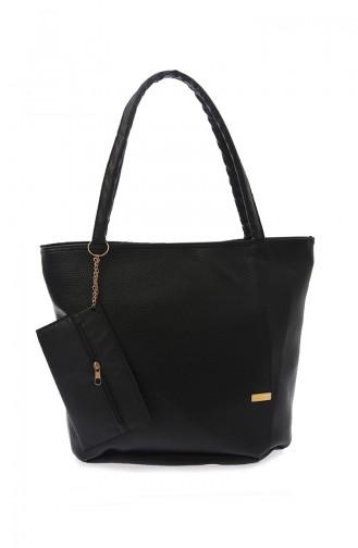 Stilgo Women s Shoulder Bag Ak02Z-09 Black 02Z-09