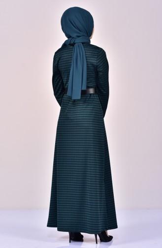 Robe a Ceinture 7121-02 Vert emeraude 7121-02