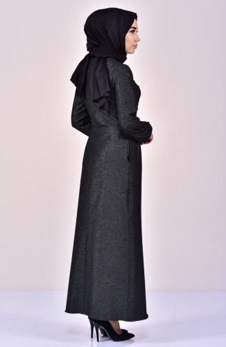Black Hijab Dress 2041-01