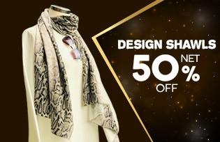 50% Off Cart on Design Shawls