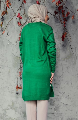 Knitwear Embroidered Sweater 9580-03 Green 9580-03