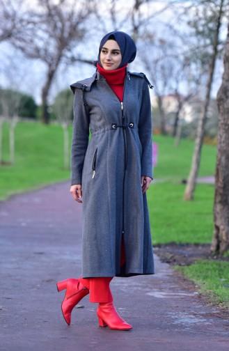 BURUN  Pleated Waist Cachet Coat 71199-06 Gray 71199-06