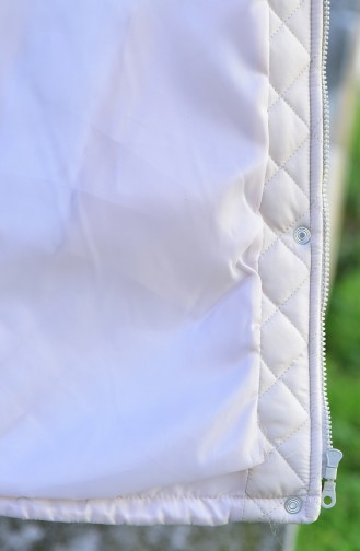 Hooded Padded Cote 0108-04 Cream 0108-04