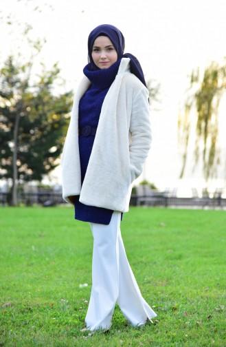 Furry Coat 182825-01 Light Beige 182825-01