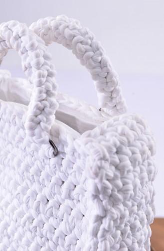White Shoulder Bag 1029-01