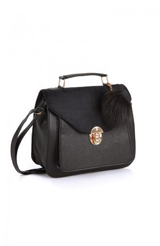 Black Shoulder Bag 10507SI