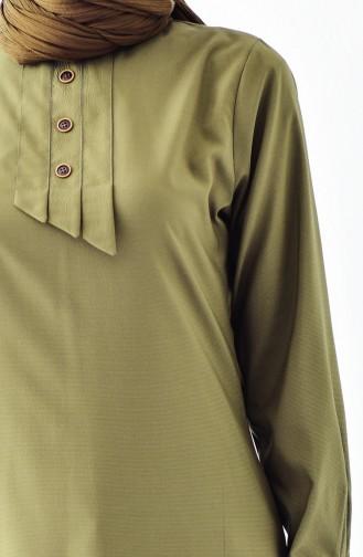 Düğmeli Tunik 5006-02 Haki