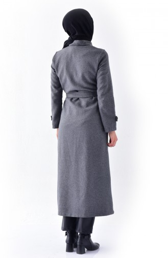 Light Black Long Coat 4428-02