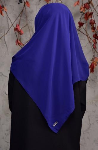 Echarpe Crêpe Grande Taille 50024-129 Bleu Marine Clair 50024-129
