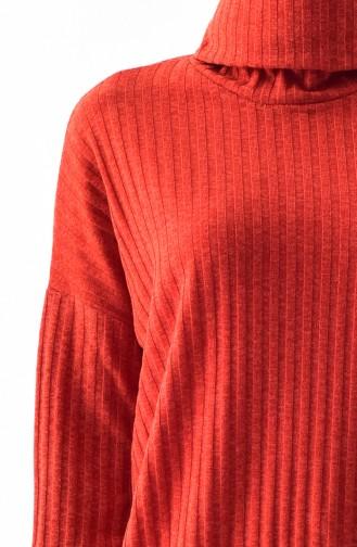 Polo-neck Long Tunic 1313-04 Tile 1313-04