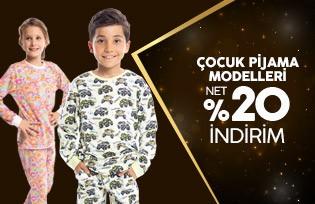 Pamuk&pamuk Çocuk Pijama Modelleri Net %50 İndirim