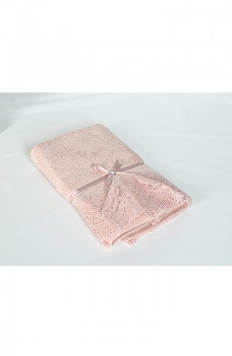 Bamboo Guipured 50X90 Face Towel 3440-01 Salmon 3440-01