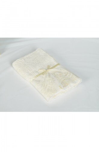 Bamboo Laced 50X90 Face Towel 3440-02 Cream 3440-02