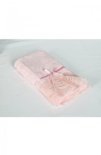 Bamboo Laced 50X90 Face Towel 3440-03 Pink 3440-03