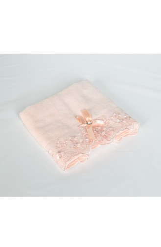 Cotton Bow French Lace 30X50 Hand Towels 3457-01 Powder Pink 3457-01