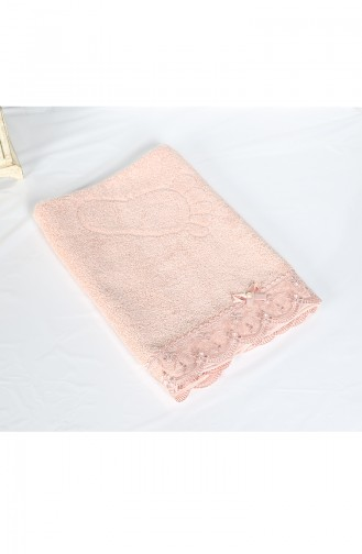 Cotton Laced 50X70 Foot Towels 3459-02 Pink 3459-02