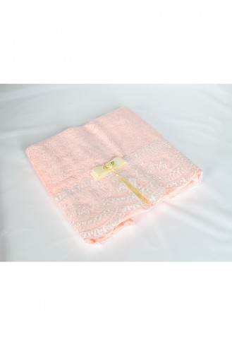 Bamboo Laced 50x90 Face Towel 3464-04 Powder Pink 3464-04