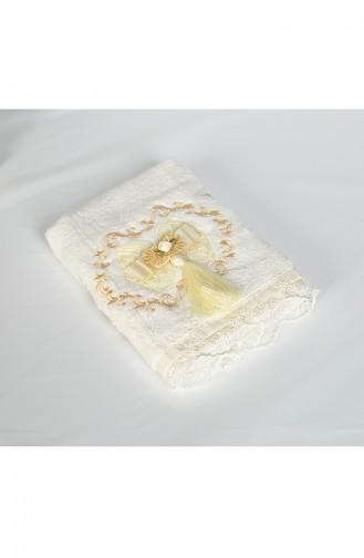 Bamboo Tasseled 50X90 Face Towels 3481-01 Cream 3481-01