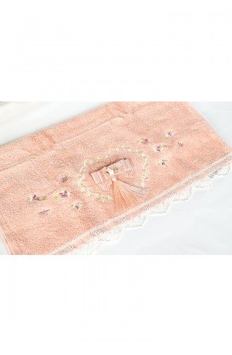 Bamboo Tasseled 50X90 Face Towels 3481-02 Rose Dry 3481-02