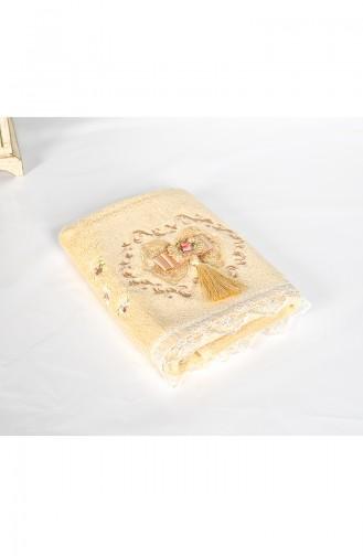 Bamboo Tasseled 50X90 Face Towel 3481-03 Beige 3481-03